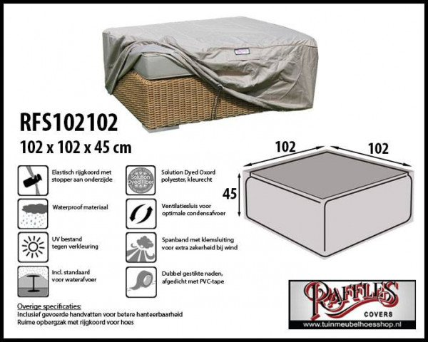 Loungetable cover 102 x 102 h: 45 cm
