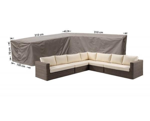Large cover corner sofa 310 x 310 x 100, H: 70 cm