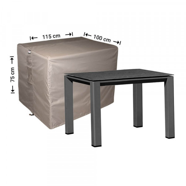 Cover for garden table 115 x 100 H: 75 cm