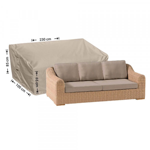 Outdoor cover for sofa 230 x 100 H: 85 / 65 cm