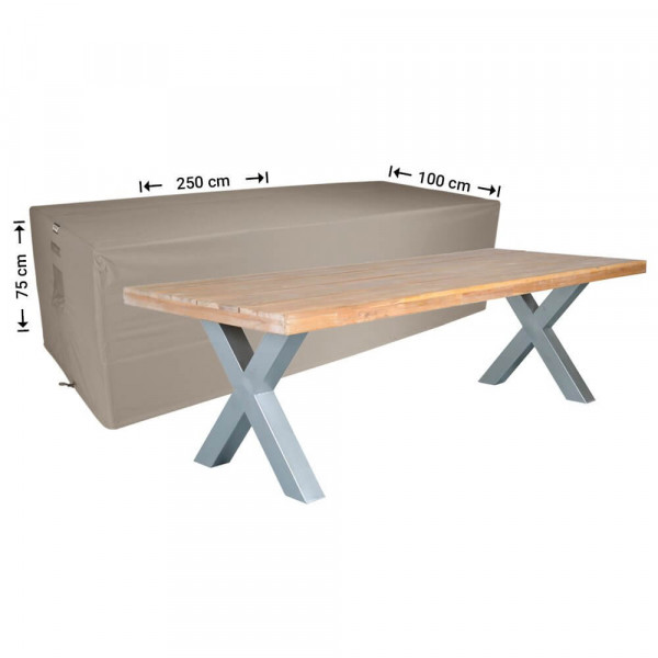 Protection cover table 250 x 100 H: 75 cm
