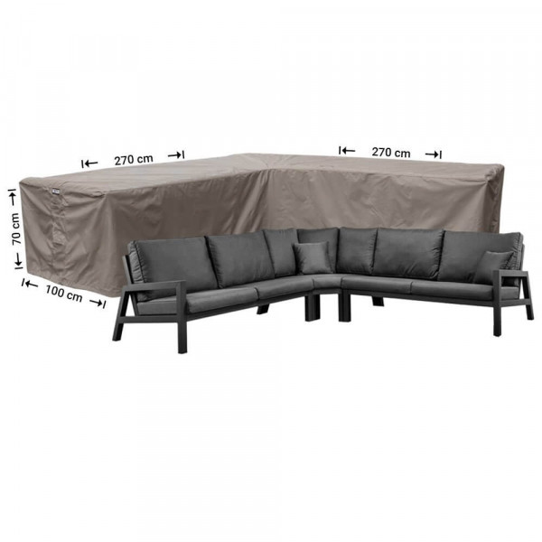 Rattan corner sofa cover 270 x 270 x 100, H: 70 cm