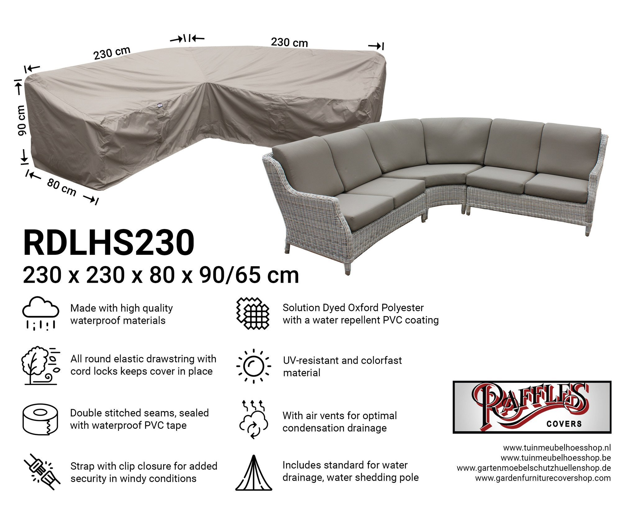 Corner Sofa Protective Cover Dining 230