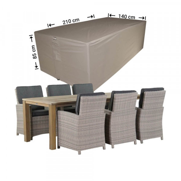 Cover for outdoor dining set 210 x 140 H: 85 cm