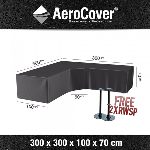 L-shaped lounge sofa cover 300 x 300 H: 70 cm