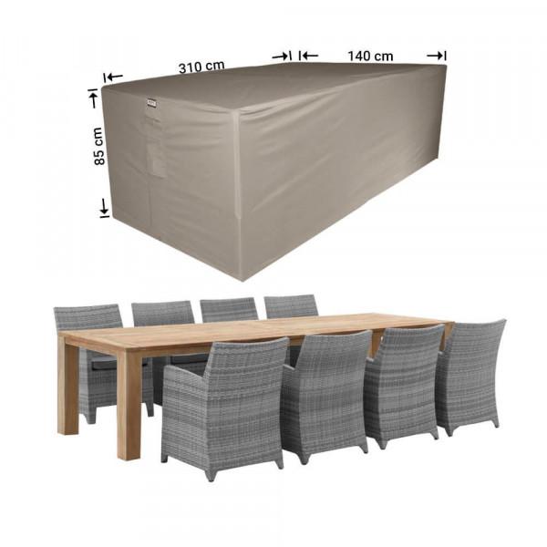 Rectangular outdoor furniture cover 310 x 140 H: 85 cm