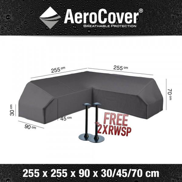 Corner bench cover for platform set 255 x 255 x 90 H: 30/45/70 cm