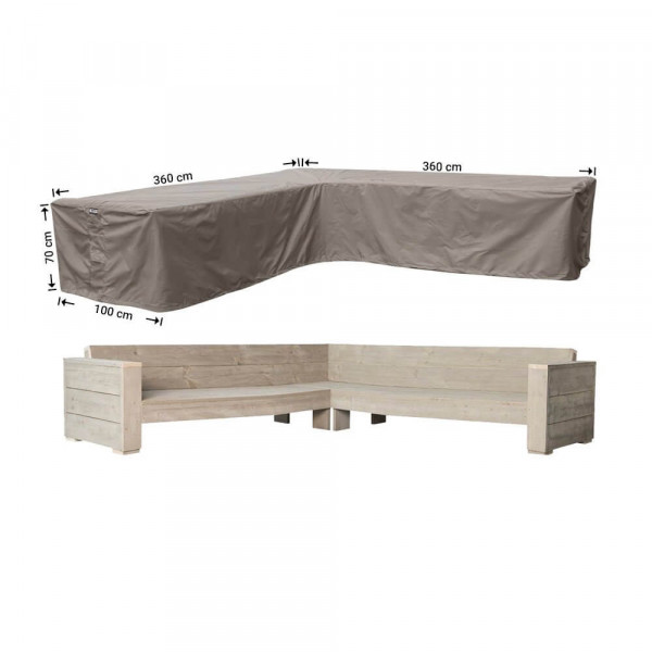 Large cover for corner sofa 360 x 360 x 100, H: 70 cm