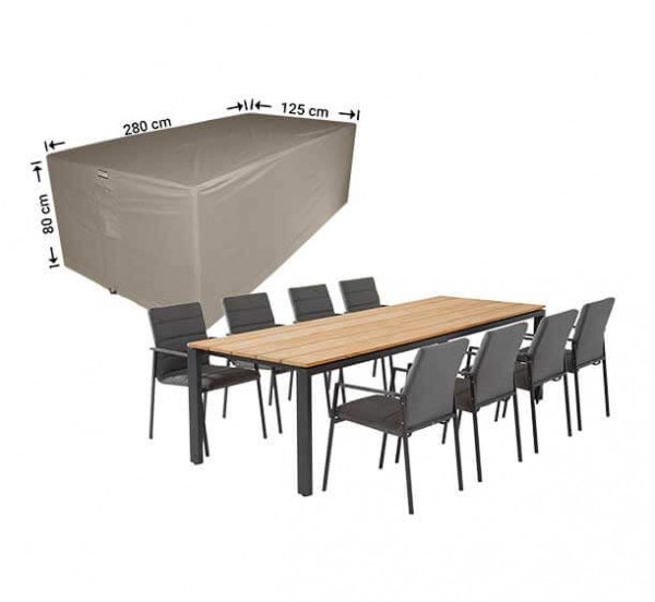 Protection cover for patio set 280 x 125 H: 80 cm