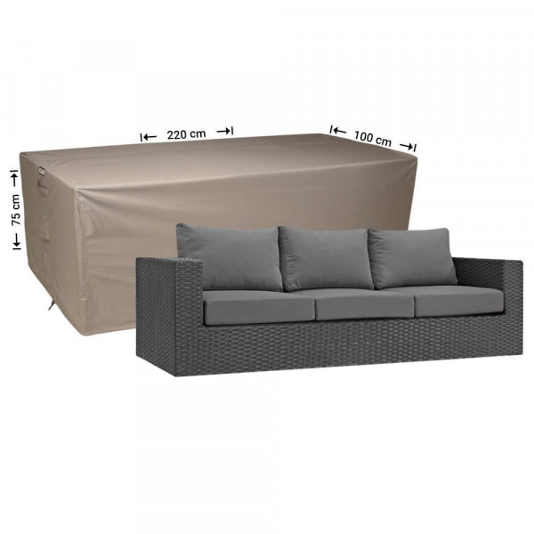 Lounge bench cover 220 x 100 H: 75 cm