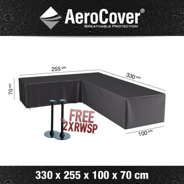 Asymmetrical corner sofa cover 330 x 255 x 100 H: 70 cm