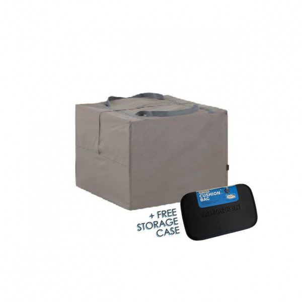 Storage bag for outdoor cushions 80 x 80 H: 60 cm