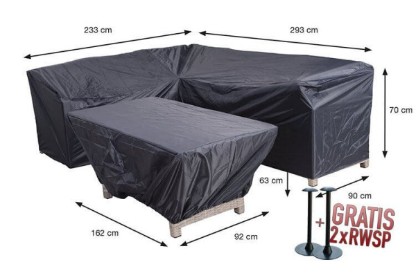 Diningloungeset protection cover 293 x 233 x 90 H: 70 cm
