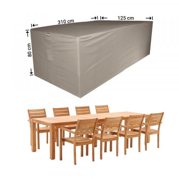 Patio furniture cover 310 x 125 H: 80 cm