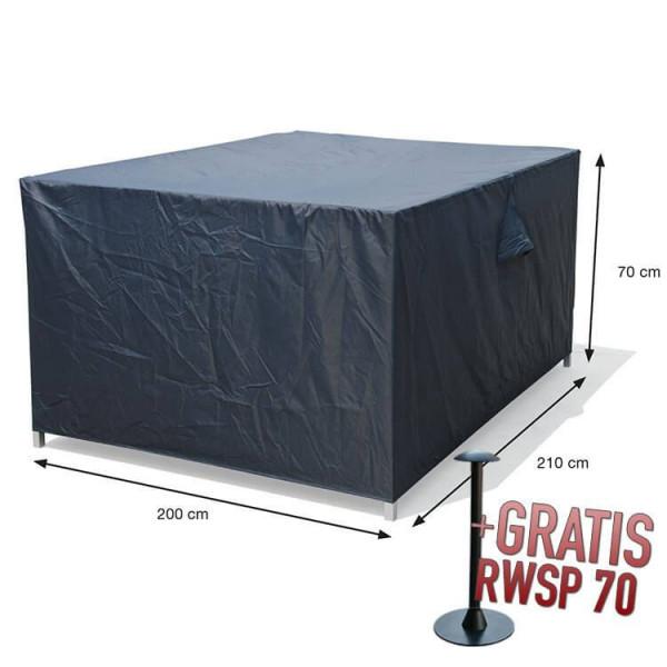Loungeset cover 210 x 200 H: 70 cm