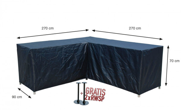 Protection cover for L-shaped loungesofa 270 x 270 x 90 H: 70 cm