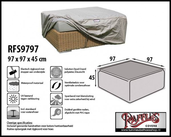 Cover for ottoman 97 x 97 H: 45 cm