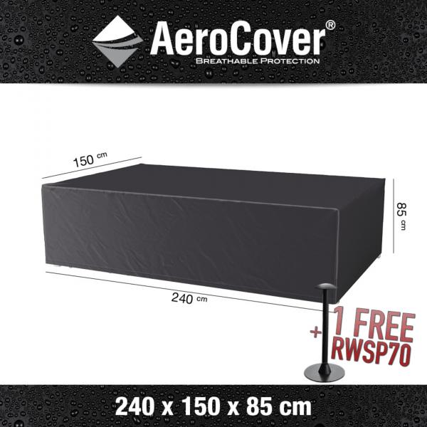 Cover for rectangular garden set 240 x 150 H: 85 cm
