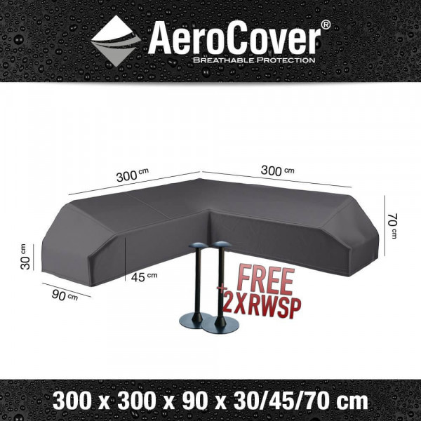 Cover for platform lounge sofa 300 x 300 x 90 H: 30/45/70 cm
