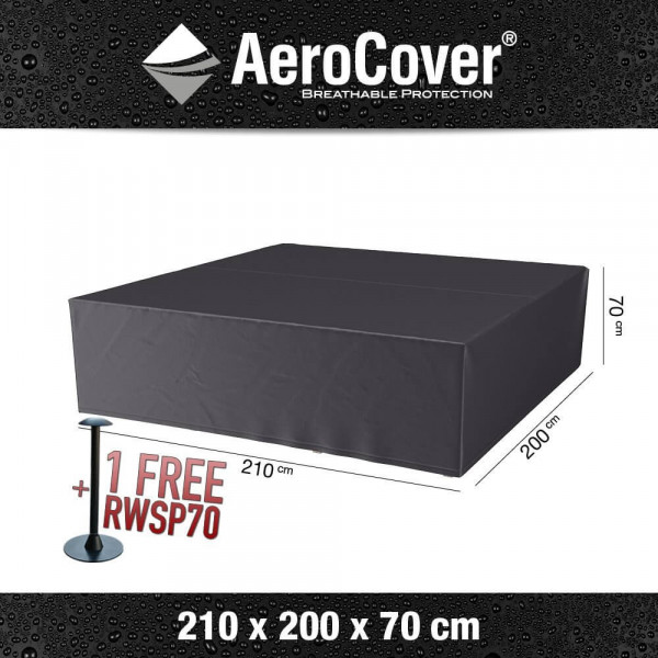 Weather cover for outdoor lounge set 210 x 200 H: 70 cm