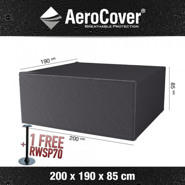 Cover for rectangular patio set 200 x 190 H: 85 cm