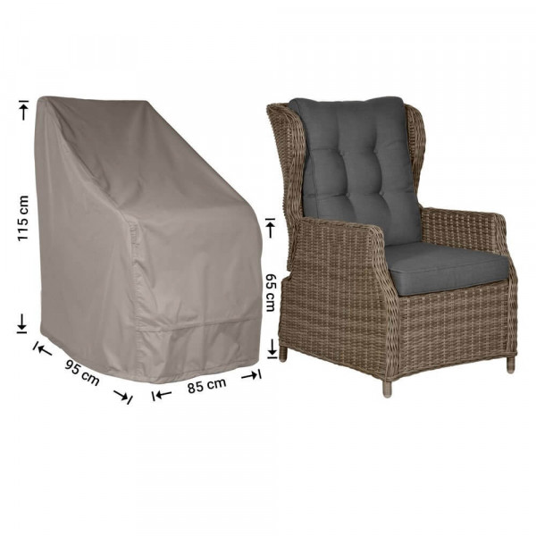 Protection cover for outdoor chair 95 x 85 H: 115 / 65 cm