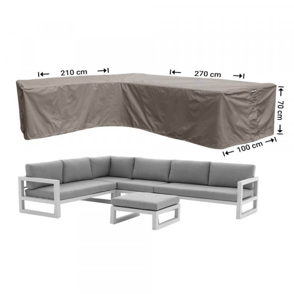 Outdoor corner sofa cover 270 x 210 x 100, H: 70 cm