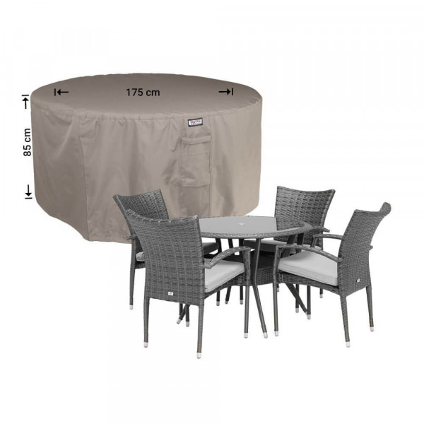 Cover for a round outdoor dining set Ø: 175cm & H: 85 cm
