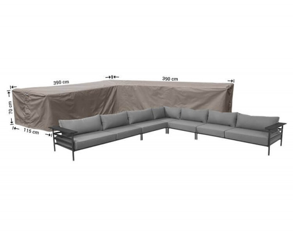 Cover for large corner sofa 390 x 390 x 115, H: 70 cm
