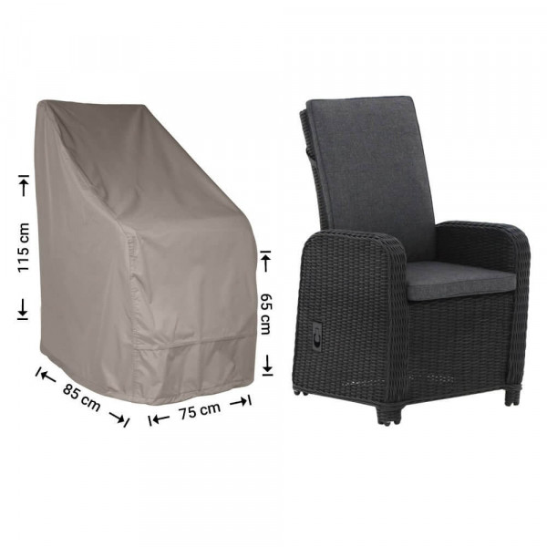 Cover for rattan chair 85 x 75 H: 115 / 65 cm