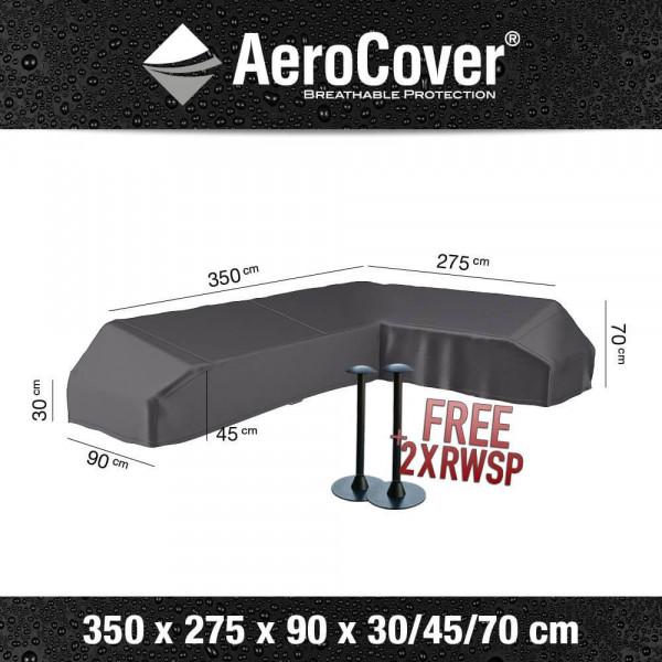 Cover for platform sofa 350 x 275 x 90 H: 30/45/70 cm