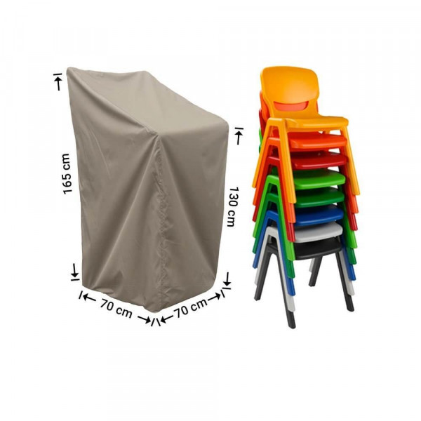 Cover for outdoor stackable chairs 70 x 70 H: 165/130 cm