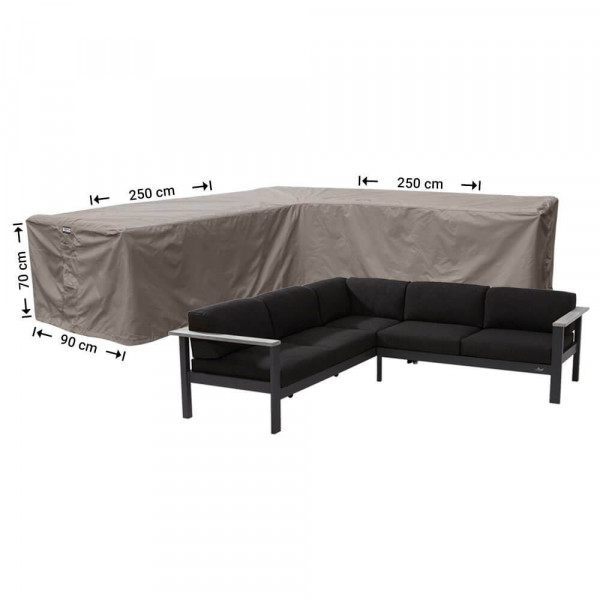 Garden corner sofa cover 250 x 250 x 90, H: 70 cm