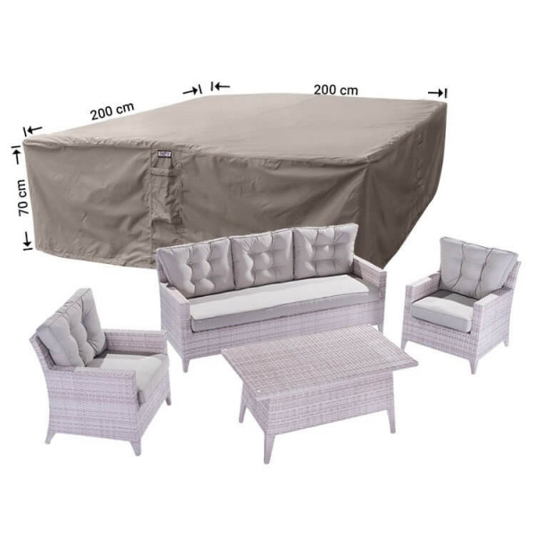 Lounge set protection cover 200 x 200 H: 70 cm