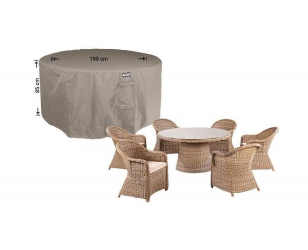 Round cover for patio set diameter: 190 cm & H: 85 cm
