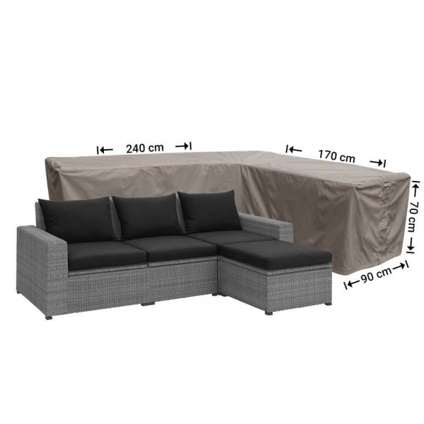 Cover for outdoor corner sofa 240 x 170 x 90, H: 70 cm