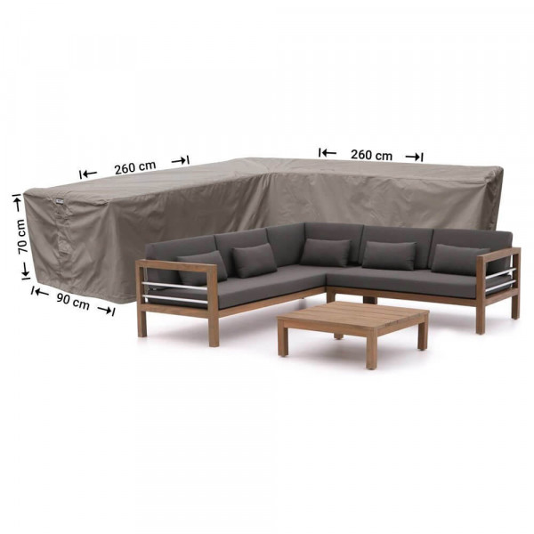 Cover for L-shaped sofa 260 x 260 x 90, H: 70 cm