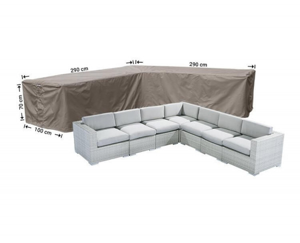 Lounge corner sofa cover 290 x 290 x 100, H: 70 cm