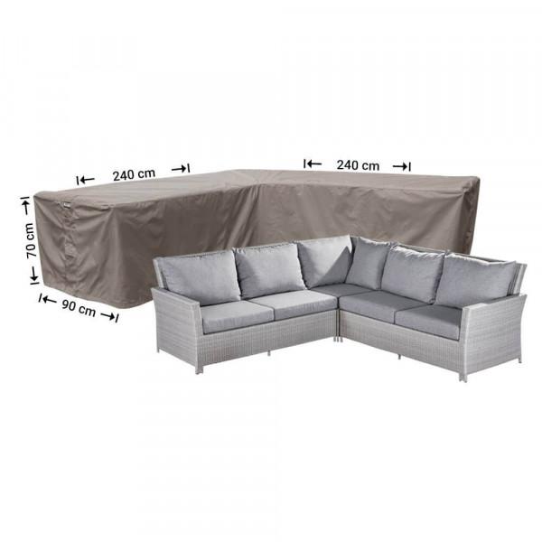 Cover for L-shaped corner sofa 240 x 240 x 90, H: 70 cm