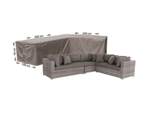 L-shape sofa cover 300 x 240 x 100, H: 70 cm