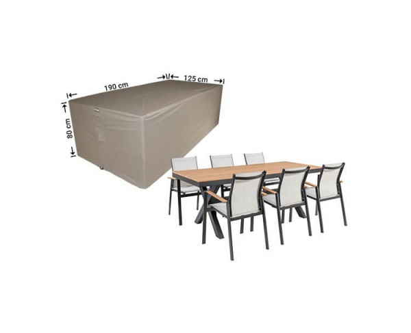Cover for garden furniture dining set 190 x 125 H: 80 cm