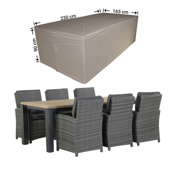 Cover for rectangular dining set 230 x 165 H: 90 cm