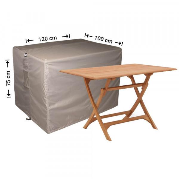 Protection case for rectangular garden table 120 x 100 H: 75 cm