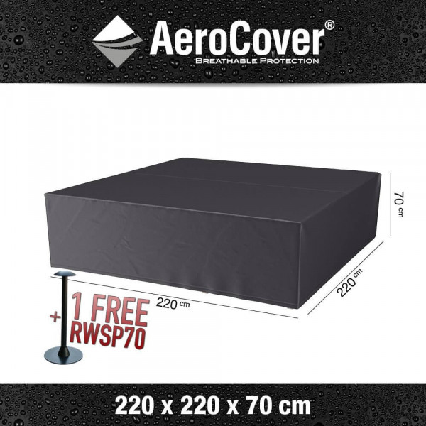 Cover for square lounge set 220 x 220 H: 70 cm