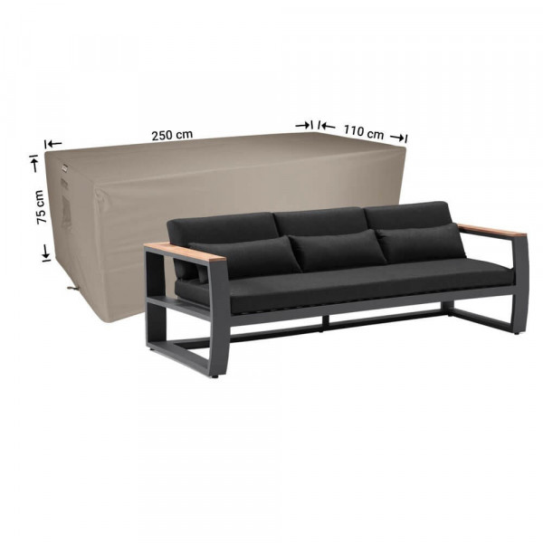 Outdoor lounge sofa cover 250 x 110 H: 75 cm