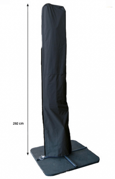 Floating parasol cover H: 292 x 60/65 cm