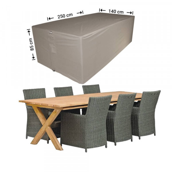 Cover for garden furniture 250 x 140 H: 85 cm