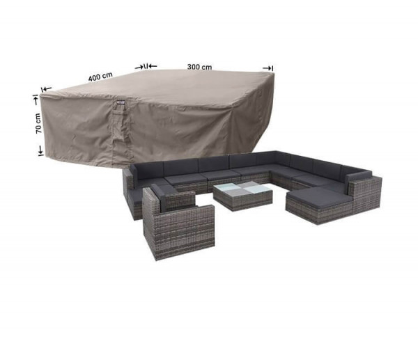 Large loungeset protection cover 400 x 300 H: 70 cm