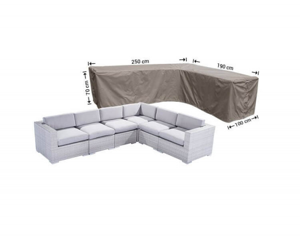 Protection cover for L-shaped sofa 250 x 190 x 100, H: 70 cm