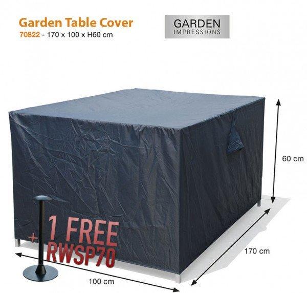 Gardentable cover 170 x 100 H: 60 cm